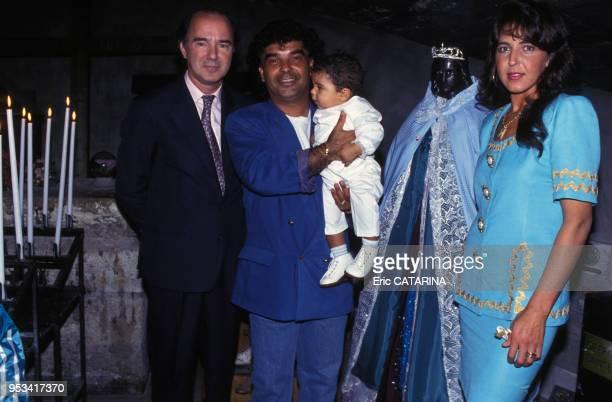 Baptême de Yoan le fils de Nicolas membre des Gipsy Kings en septembre 1992 France