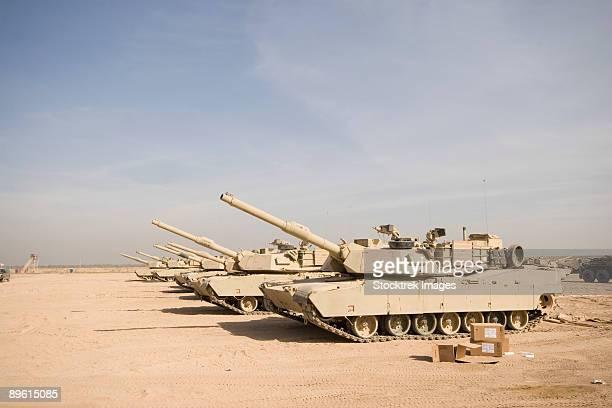 Baqubah, Iraq - M1 Abrams tank at Camp Warhorse.