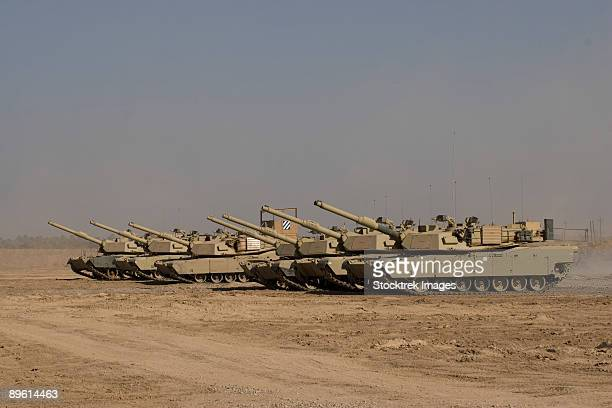 Baqubah, Iraq - M1 Abrams tanks at Camp Warhorse.