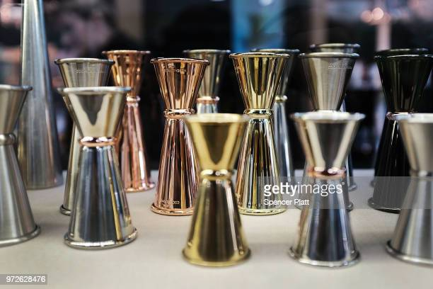 Bar accessories are displayed at Bar Convent Brooklyn an international bar and beverage trade show at the Brooklyn Expo Center on June 12 2018 in the...