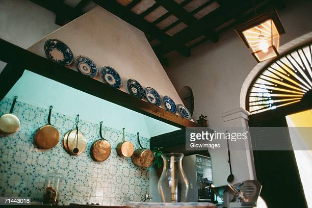 A bar adorned cooking pans and plates, Old San Juan, Puerto Rico