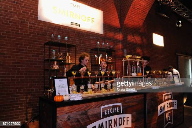 SMIRNOFF bar at 2017 New York Taste at The Waterfront Building on November 6 2017 in New York City
