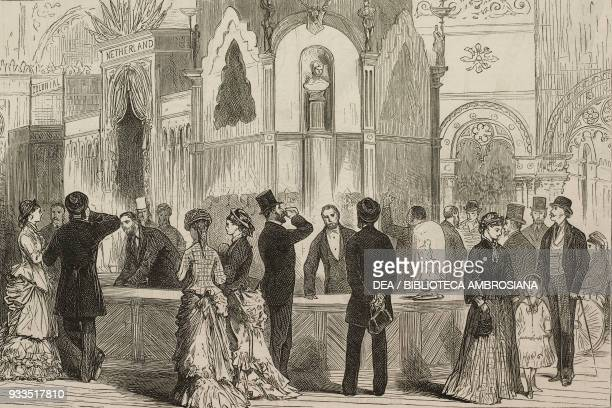 Bar at the American Centennial Exhibition Philadelphia United States of America illustration from the magazine The Graphic volume XIII no 348 July 29...
