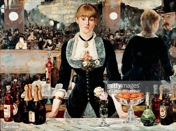 A bar at the Folies Bergeres by Edouard Manet oil on canvas 96x130 cm London Courtauld Institute Of Art Gallery