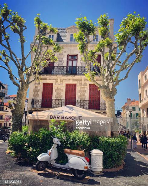 bar basque in biarritz city center, france - biarritz stock pictures, royalty-free photos & images