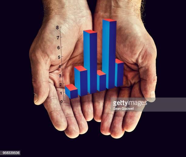 Bar chart in hands