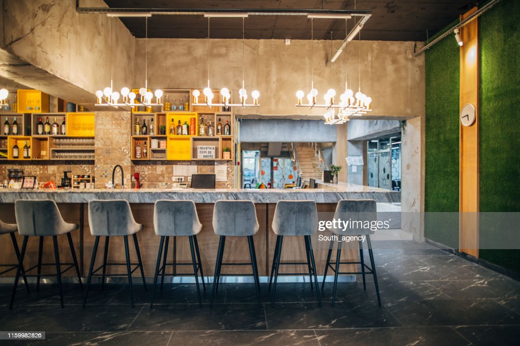 Bar Counter Of Modern Cafe High Res Stock Photo Getty Images