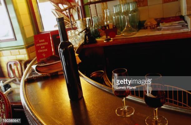 Bar detail at Le Clown Bar.