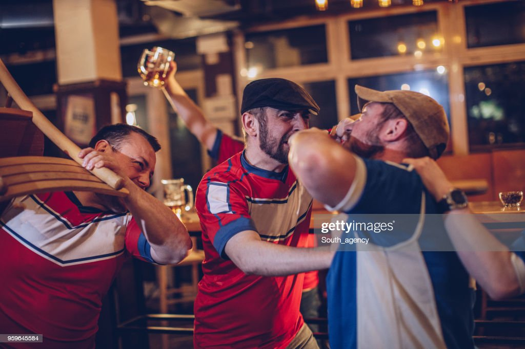 Bar fight : Stock Photo