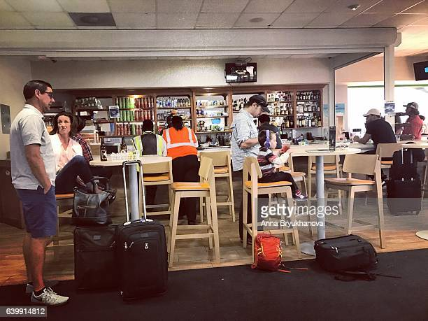 Bar for passengers in Providenciales airport, Turks and Caicos