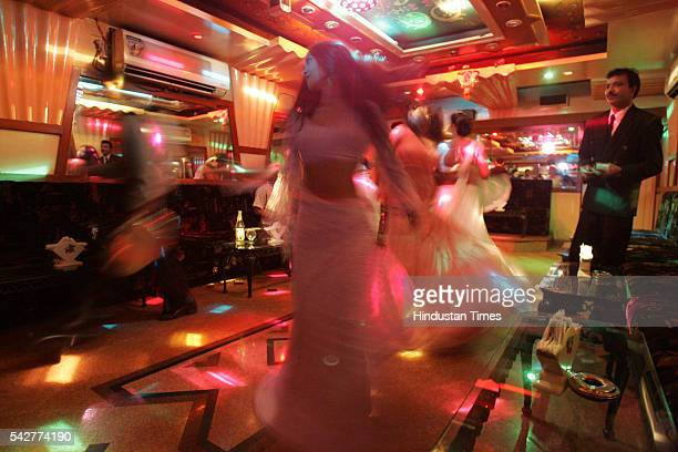 Bar girls performing dance at a bar on August 9 2005 in Mumbai India