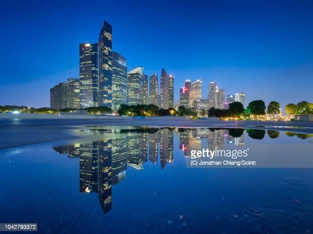 bar graph - marina bay singapur stock-fotos und bilder