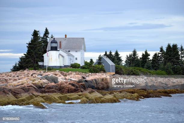 bar harbor, maine light house - tammy bar stock pictures, royalty-free photos & images