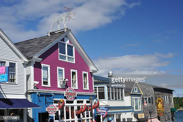 bar harbor stores - bar harbor stock photos and pictures