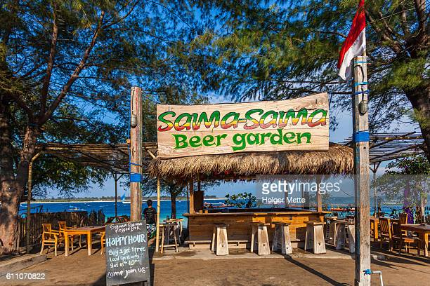 Bar in Gili Islands in Lombok, Indonesia