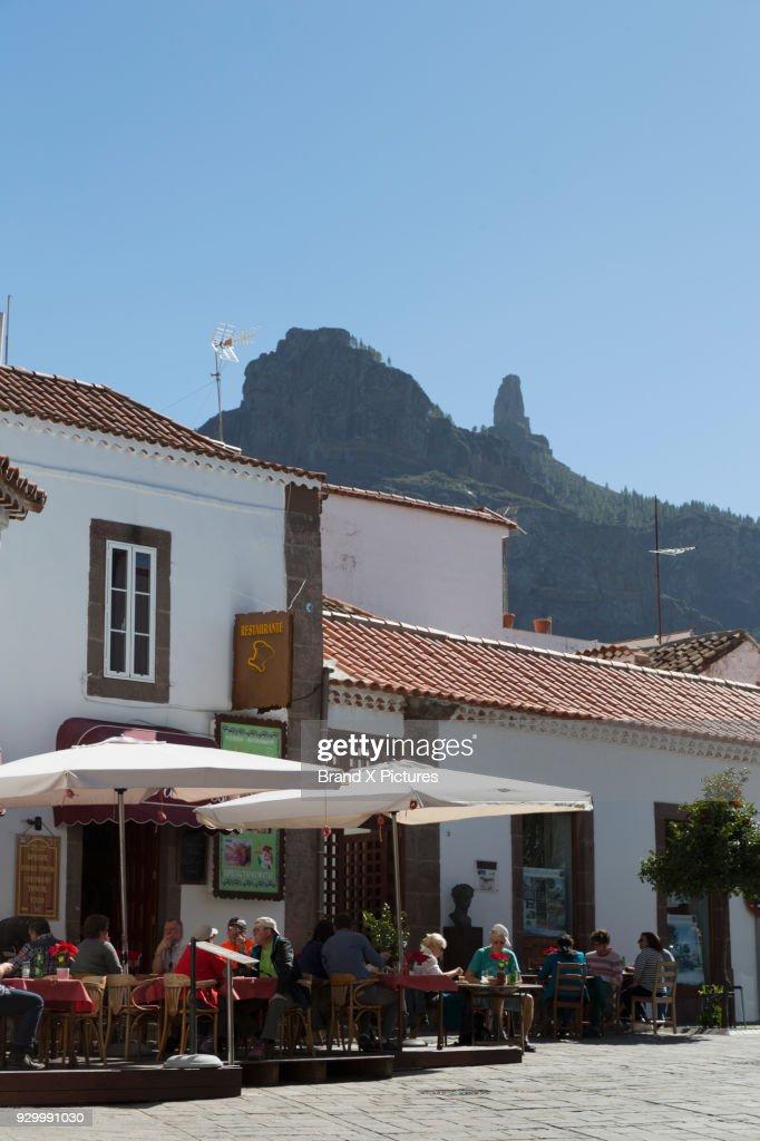 Bar in Tejeda on Gran Canaria : Stock Photo