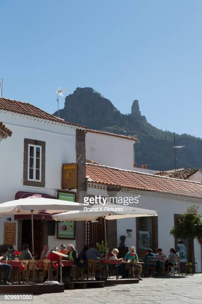 bar in tejeda on gran canaria - tejeda canary islands stock pictures, royalty-free photos & images