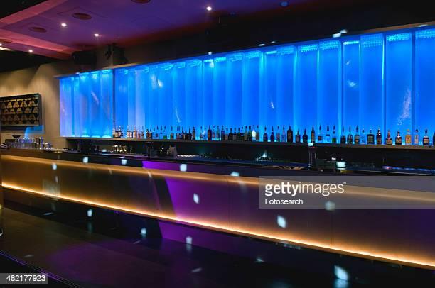 Bar inside modern nightclub