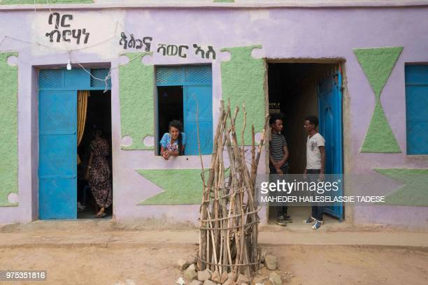 A bar is seen in Badme a disputed town on the border between Ethiopia and Eritrea on June 14 2018 If Ethiopia's reformist prime minister Abiy Ahmed...
