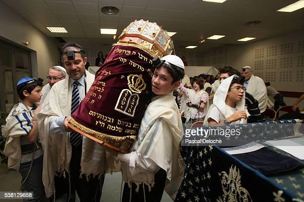 Bar Mitsvah in a synagogue