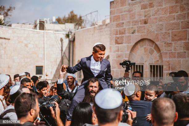 bar mitzvah in jerusalem - israeli ethnicity stock pictures, royalty-free photos & images
