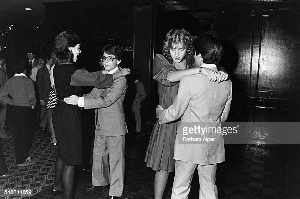 A Bar Mitzvah party for a 13yearold boy in West Bloomfield Michigan December 1983