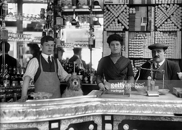 Bar of a cafetobacco shop Paris yeras 1920