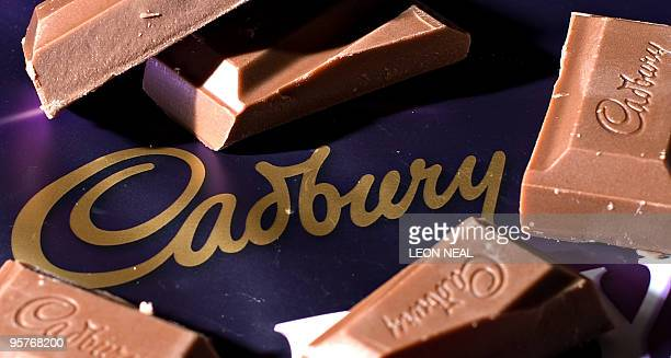 A bar of Cadbury's Dairy Milk chocolate is pictured in London on January 14 2010 US chocolate maker Hershey has authorised a bid to be prepared for...