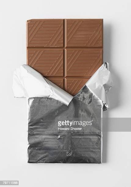 Bar of chocolate, studio shot