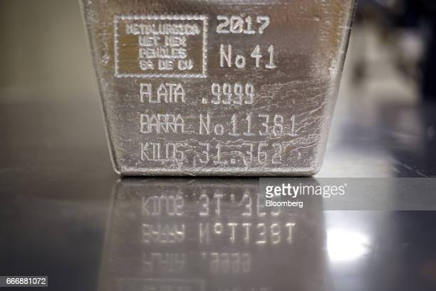 A bar of silver sits inside a vault at the Rochester Silver Works LLC facility in Rochester New York US on Thursday March 30 2017 Rochester...