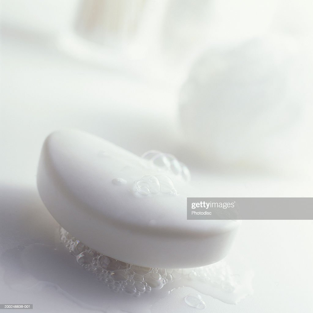Bar of Soap, (Close-up) : Stock Photo