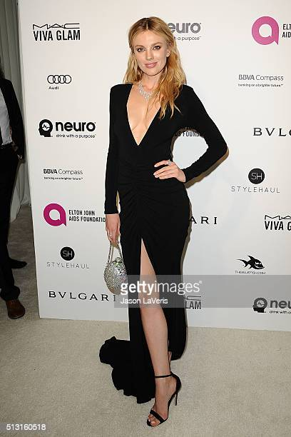 Bar Paly attends the 24th annual Elton John AIDS Foundation's Oscar viewing party on February 28 2016 in West Hollywood California