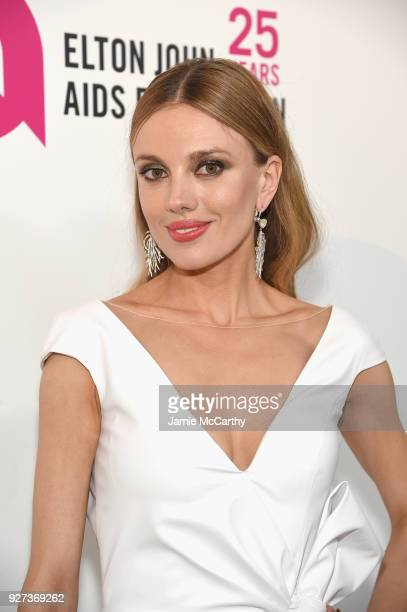 Bar Paly attends the 26th annual Elton John AIDS Foundation Academy Awards Viewing Party sponsored by Bulgari celebrating EJAF and the 90th Academy...