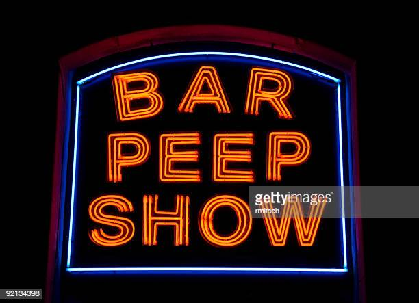 bar peep-show - red light district stock-fotos und bilder