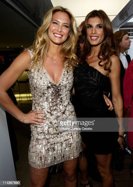 Bar Refaeli and Elisabetta Canalis attend the Cavalli Boutique Opening during the 64th Annual Cannes Film Festival on May 18, 2011 in Cannes, France.