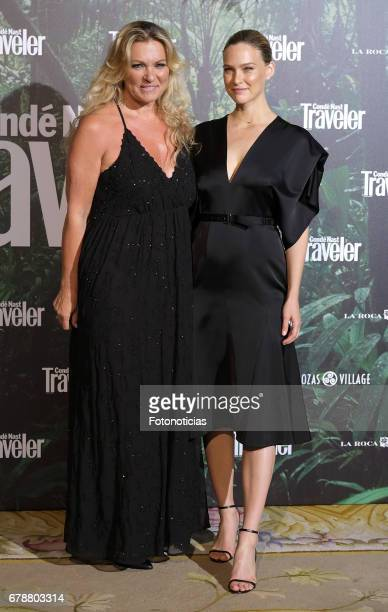 Bar Refaeli and her mother Tzipi Levine attend the 2017 Conde Nast Traveler Awards ceremony at The Ritz Hotel on May 4 2017 in Madrid Spain