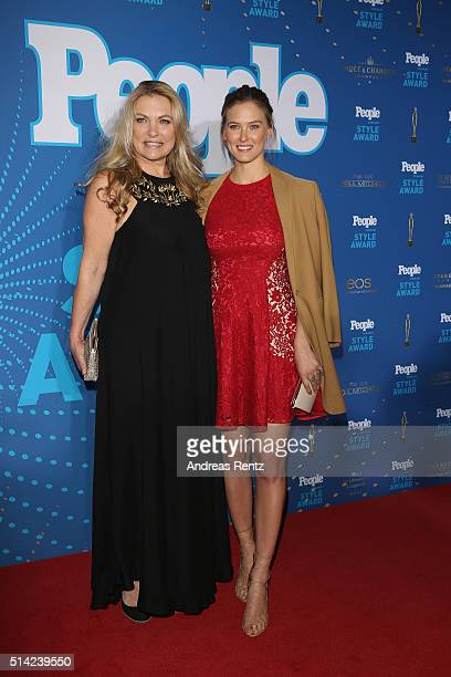 Bar Refaeli and her mother Tzipi Levine attend the PEOPLE Style Awards at Hotel Vier Jahreszeiten on March 7 2016 in Munich Germany