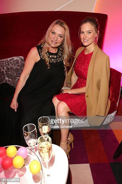 Bar Refaeli and her mother Tzipi Levine during the PEOPLE Style Awards at Hotel Vier Jahreszeiten on March 7 2016 in Munich Germany