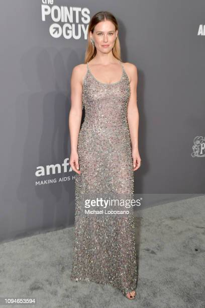 Bar Refaeli attends the amfAR New York Gala 2019 at Cipriani Wall Street on February 6 2019 in New York City