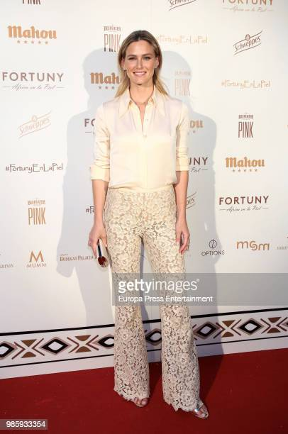 Bar Refaeli attends the charity dinner #Africaenlapiel to raise funds for albinism people in Tanzania on June 27 2018 in Madrid Spain