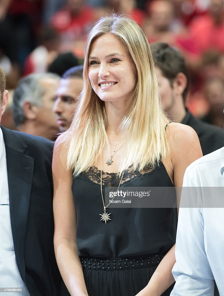 Bar Refaeli Attends Basketball Match In Israel