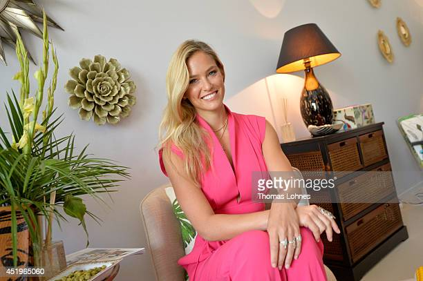 Bar Refaeli attends the Laurel show during the MercedesBenz Fashion Week Spring/Summer 2015 at Erika Hess Eisstadion on July 10 2014 in Berlin Germany