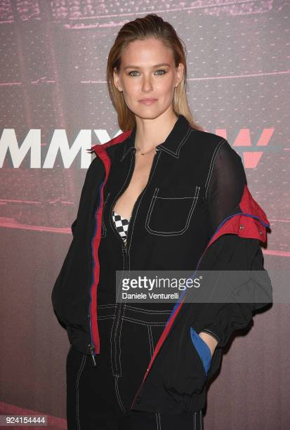 Bar Refaeli attends the Tommy Hilfiger show during Milan Fashion Week Fall/Winter 2018/19 on February 25 2018 in Milan Italy