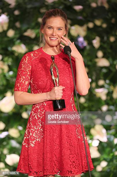 Bar Refaeli with award during the PEOPLE Style Awards at Hotel Vier Jahreszeiten on March 7 2016 in Munich Germany