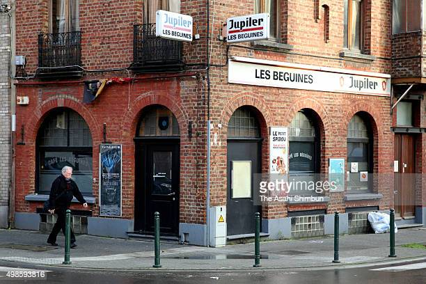 A bar run by Brahim and Salah Abdeslam is seen on November 22 2015 in Brussels Belgium Brussels remains on highest alert