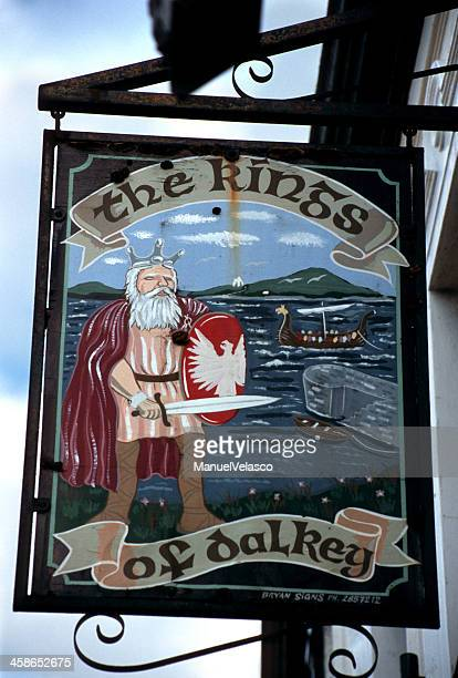 bar sign in dalkey - dalkey stock pictures, royalty-free photos & images