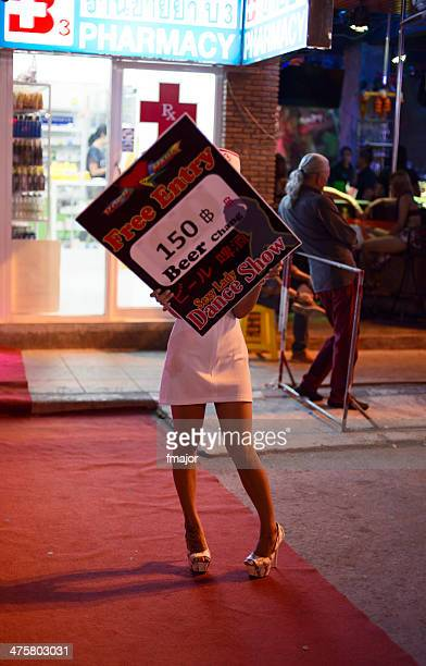 bar street of phuket - nursing slogans stock photos and pictures