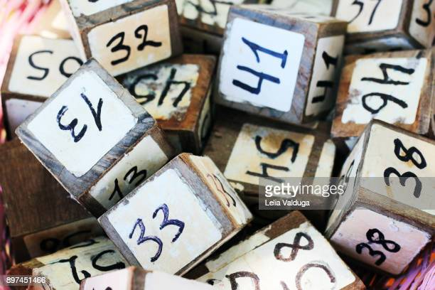 bar table  dice identifiers - beach - bahia - brazil - identifiers stock pictures, royalty-free photos & images