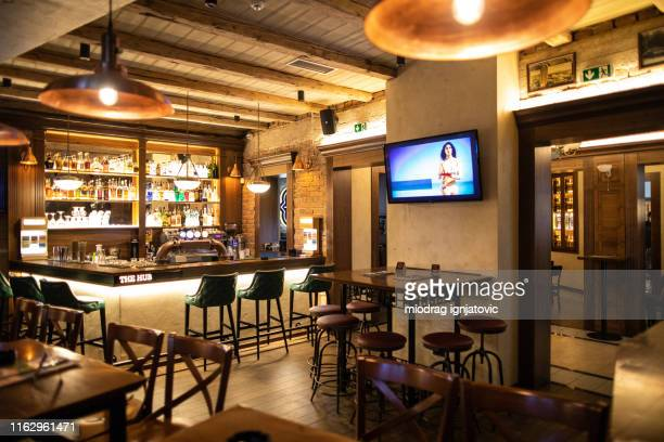 bar without guests - bar stock pictures, royalty-free photos & images