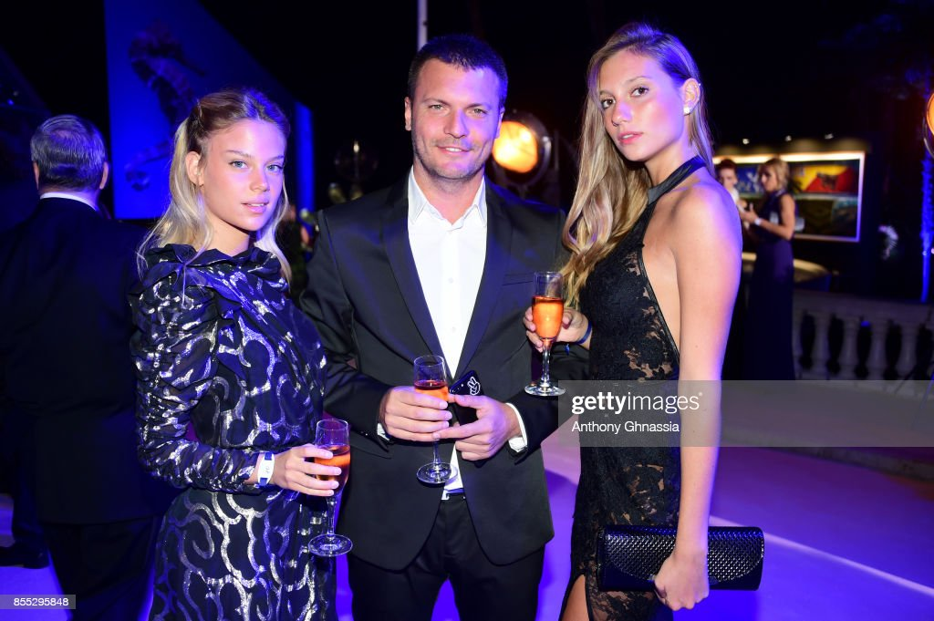 Bar Zomer, Shai Avital and Nicol Mosli attend the cocktail for the inaugural 'Monte-Carlo Gala for the Global Ocean' honoring Leonardo DiCaprio at the Monaco Garnier Opera on September 28, 2017 in Monaco, Monaco.